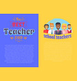 two posters teacher theme vector image