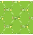 Vegetables seamless pattern in a line art style vector image