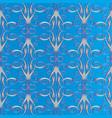 vintage 3d damask seamless pattern light blue vector image