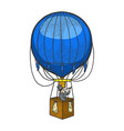 vintage air balloon sketch engraving vector image vector image