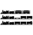 Vintage american steam trains vector image