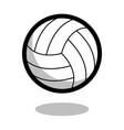volleyball sport ball logo line 3d icon vector image vector image