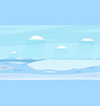 winter lake landscapes horizontal wild sideview vector image
