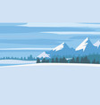 winter landscape cartoon minimal style horizon vector image vector image