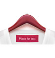 wooden clothes hangers with colored clothes and vector image vector image