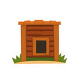 wooden empty kennel on a white vector image vector image