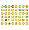 Mega big collection set of Emoji face emotion vector image