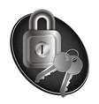 lock and keys of metal vector image