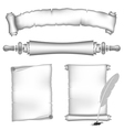 scroll papers set vector image