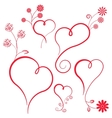 Abstract heart with flowers Element for design vector image