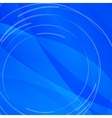Abstract bright blue background with white lines vector image vector image