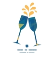 abstract fabric triangles toasting wine glasses vector image vector image