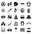 active rest icons set simple style vector image vector image