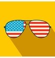 American flag glasses flat icon vector image