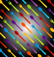 Background with colorful spoons and forks vector image vector image