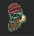 beard skull vector image vector image
