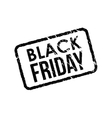Black Friday vintage grunge rubber stamp on white vector image