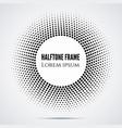black halftone mosaic dot frame vector image vector image