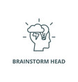 brainstorm head line icon brainstorm head vector image vector image