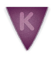 Bunting flag letter K vector image vector image