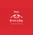 card style doctor day celebration vector image vector image