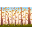 Cartoon Forest Background Landscape vector image vector image