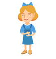 caucasian cheerful girl laughing vector image vector image
