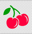 cherry berry icon cherries on on isolated vector image