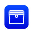chest icon digital blue vector image