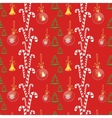 Christmas background with balls sweets and bells vector image