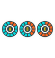 circle graph chart icon flat style vector image