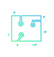 circuit icon design vector image vector image