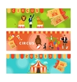 Circus banners with fun flat elements vector image vector image