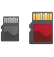 Compact memory card vector image