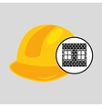 construction brick helmet tool graphic vector image vector image