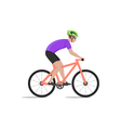 cyclist on bike biker and bicycling sport and vector image vector image