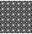 Design seamless monochrome spiral pattern vector image