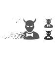 dust pixel halftone devil icon vector image vector image