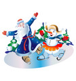 father frost and the snowball vector image