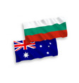 flags of bulgaria and australia on a white vector image