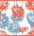 floral seamless pattern gerbera flowers on white vector image