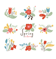 Floral Set Spring vector image vector image