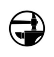 forge logo smithy symbol hammer and anvil emblem vector image vector image