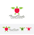 fruit turtle logo design vector image
