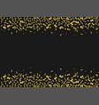 golden confetti background vector image vector image