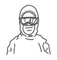 hand drawn coronavirus medical personnel vector image vector image