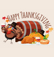 happy thanksgiving food template vector image