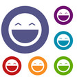laughing emoticons set vector image vector image