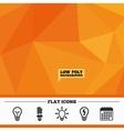 Light lamp icons Energy saving symbols vector image