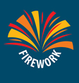 logo abstract multicolored fireworks vector image vector image
